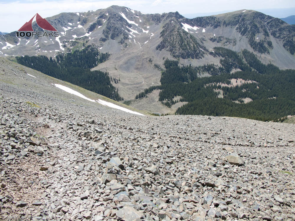 Talus trail on the way down from Wheeler Peak