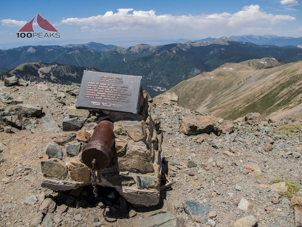 Wheeler Peak Summit Register and Plaque