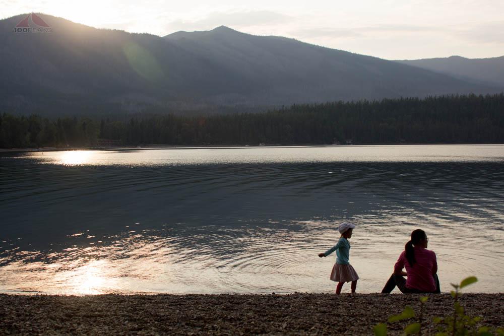 At the edge of Lake McDonald