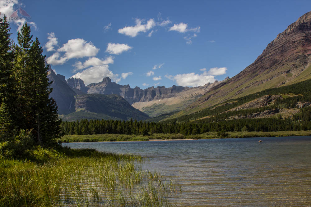 Iceberg Notch from Swiftcurrent Lake