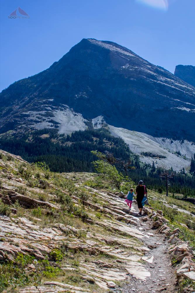 Short hike to Many Glacier Hotel