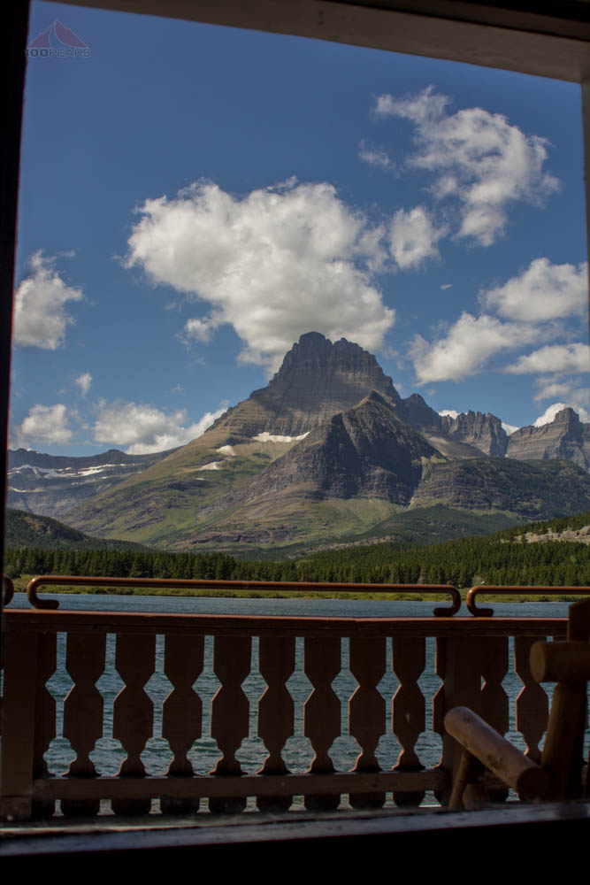 The view from Many Glacier Hotel