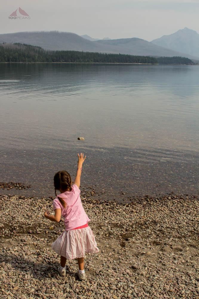 Throwing Stones into Lake McDonald, Glacier National Park