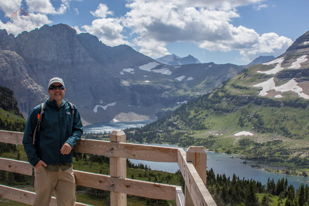 Yours truly, at Hidden Lake Overlook