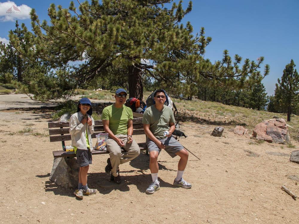 Taking a break atop Mount Pinos