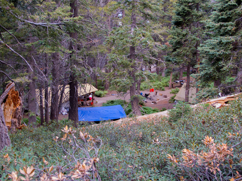 Conservation Corp camp along the PCT