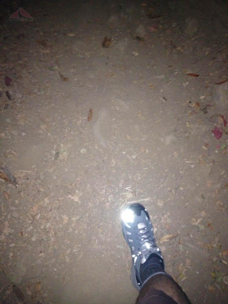 Hiking in the dark to Montecito Peak