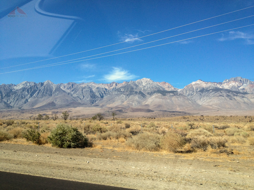 The White Mountains from the 395