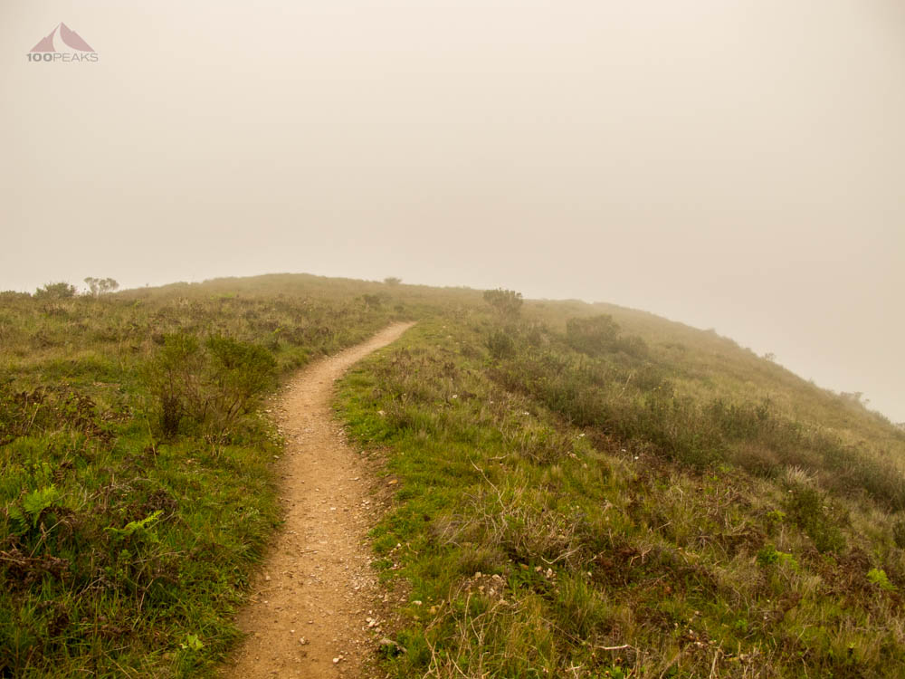 Heading back down the Valencia Peak Trail