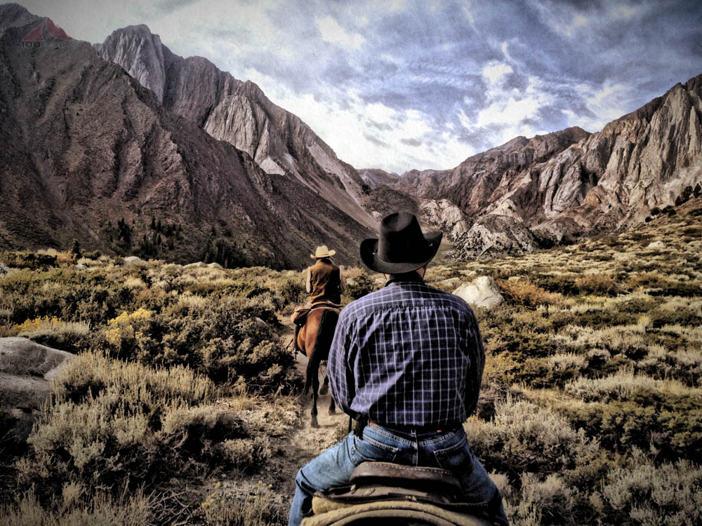 My father on a horse at Convict Lake