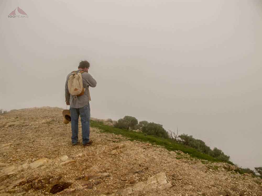 Reamo, enjoying the view from Valencia Peak