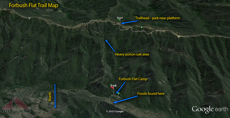 Forbush Flat Trail Map
