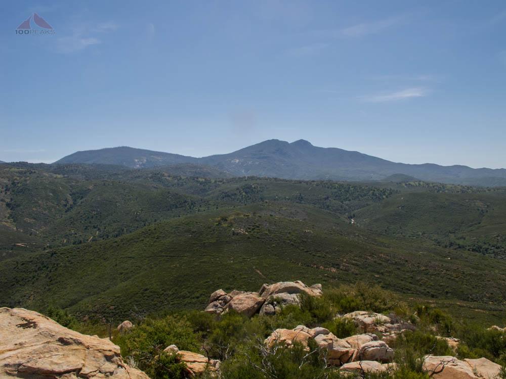 Cuyamaca Peak and Middle Peak from Sunshine Mountain