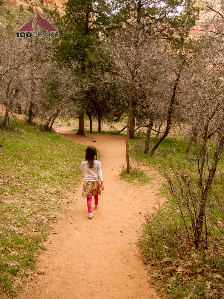 Hiking along the Kayenta Trail