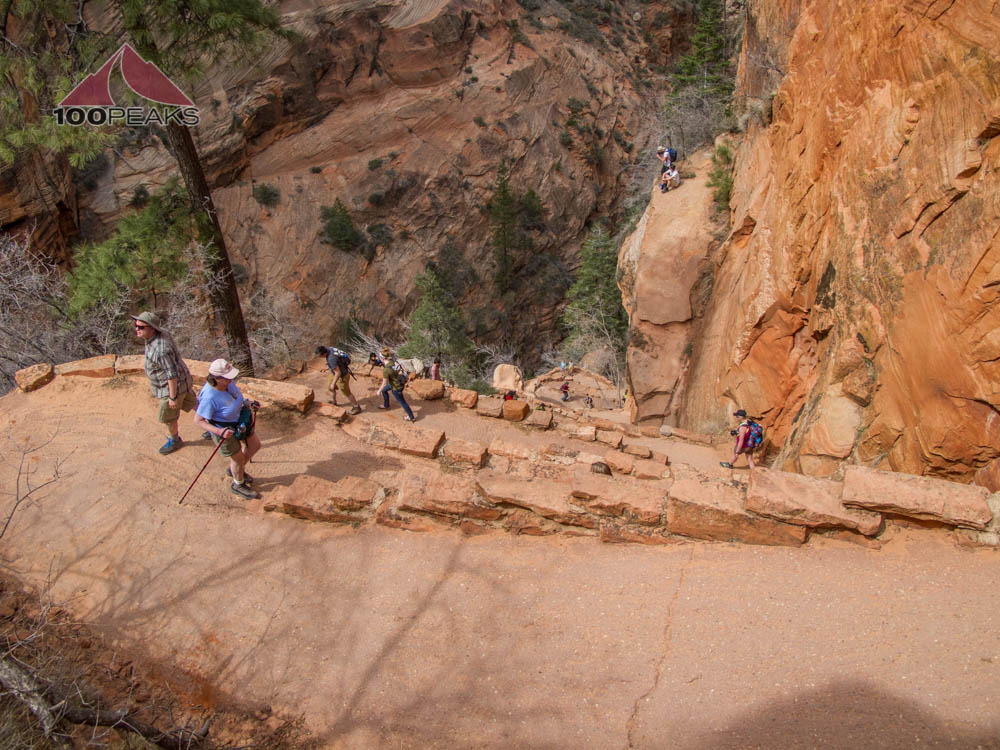 The Steep Switchbacks on the way down from Angel's Landing