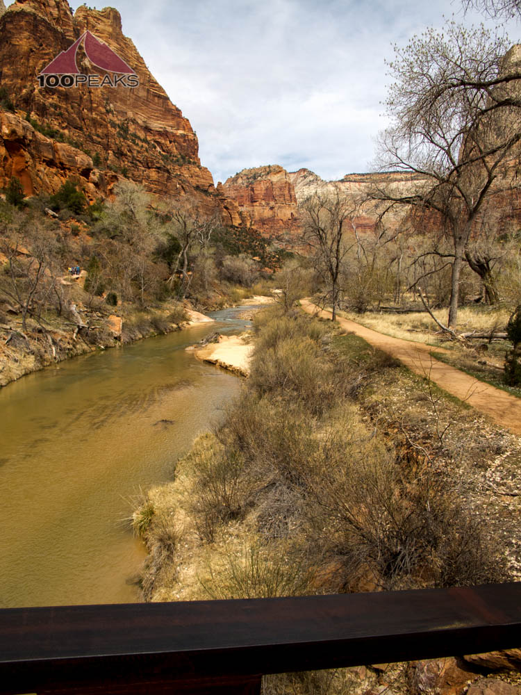 The Virgin River at the Emerald Pools Trailhead