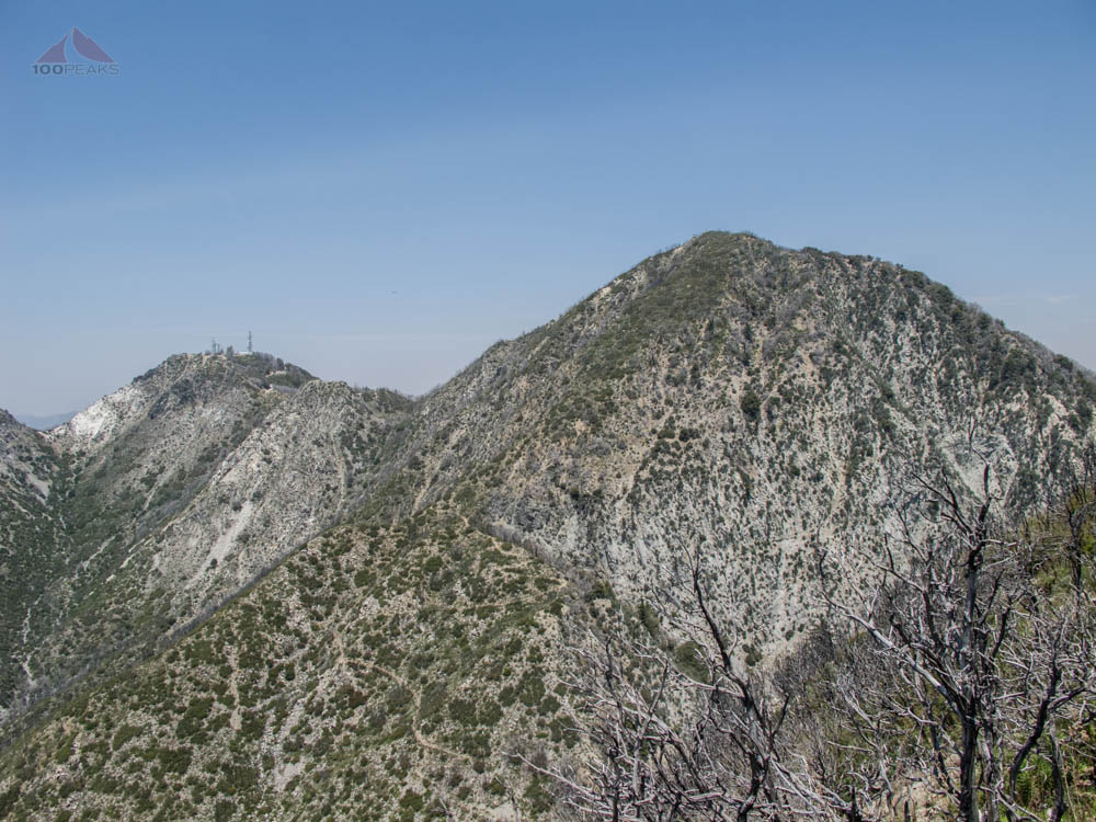 San Gabriel Peak and Mount Disappointment from Mount Markham