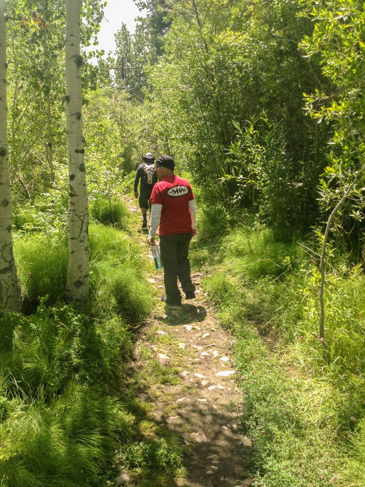 Hiking to Goldmine Falls near Cardinal Village Resort