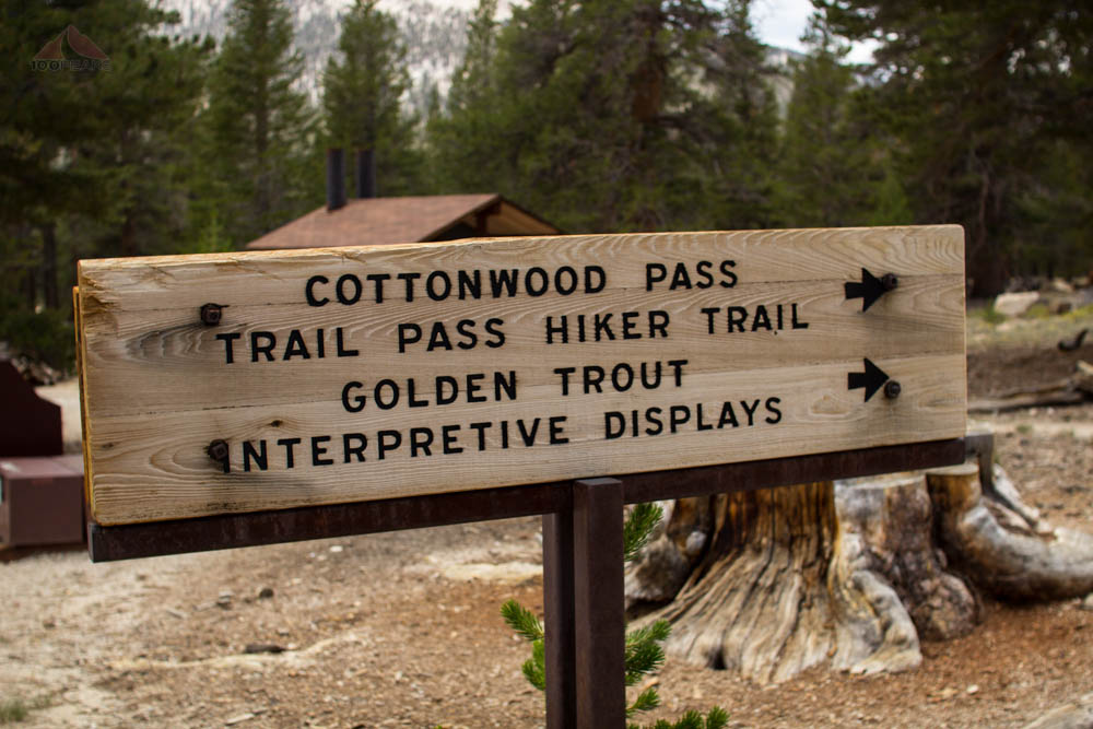 The Trailhead sign to Cottonwood Pass