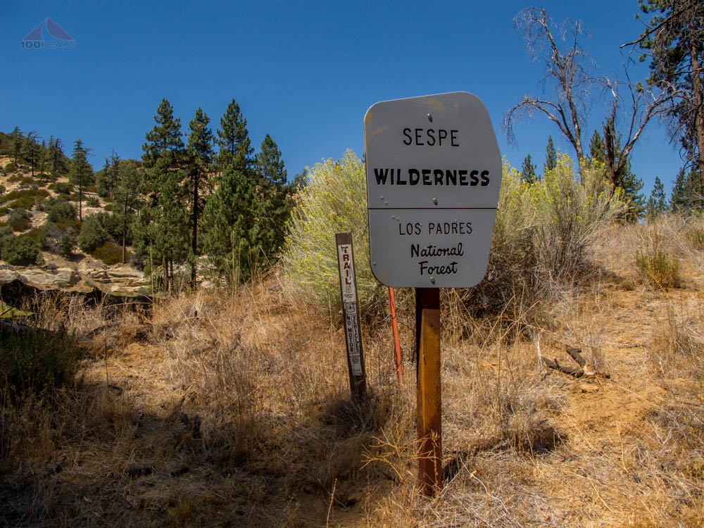 Sespe Wilderness sign
