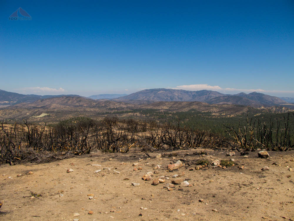The view east from San Guillermo Mountain to Lockwood Peak and Alamo Mountain