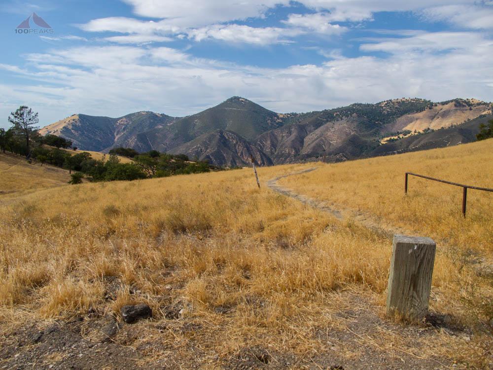The La Jolla Trail, with Zaca Peak in the distance