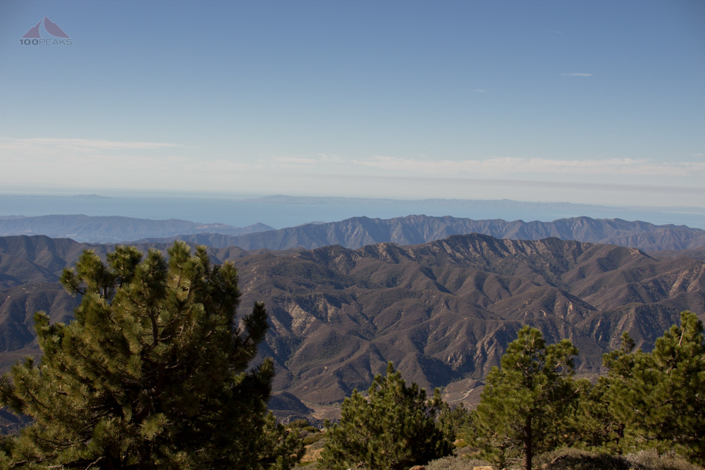 Ortega Ridge, Santa Ynez Mountains, and the Channel Islands in the Distance