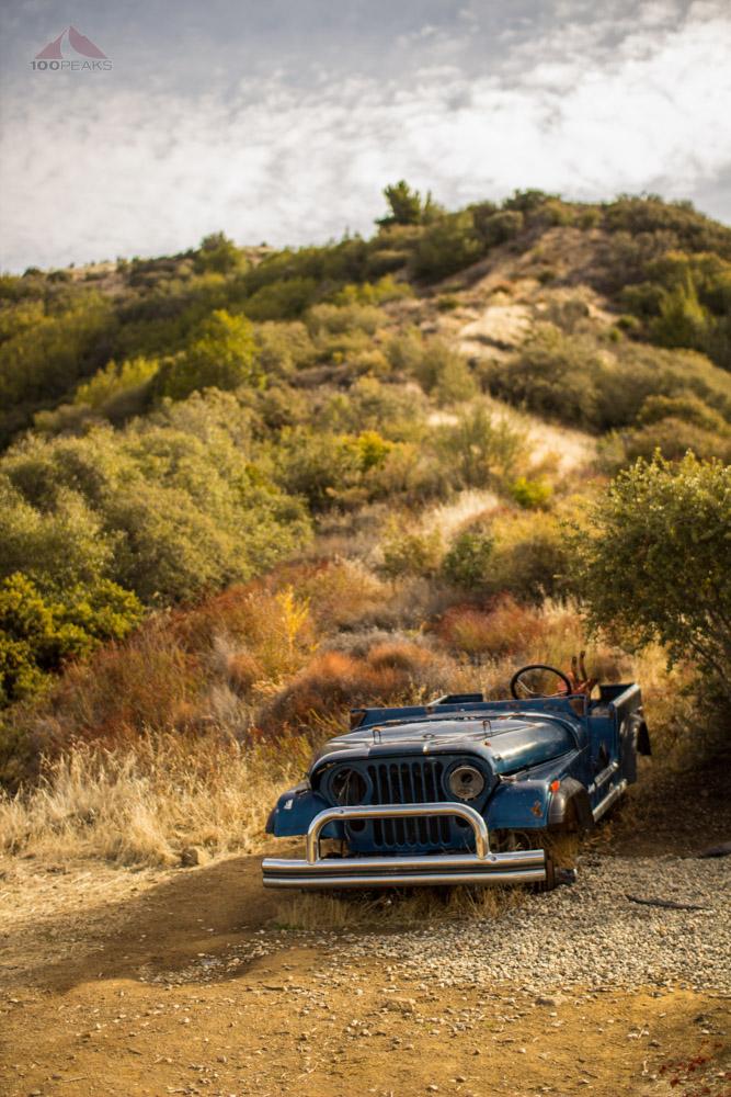 Blue Jeep at Knapp's Castle