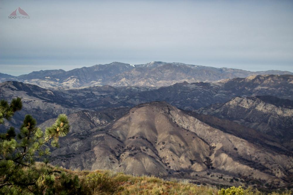 Sage Hill, McKinley Mountain, and Santa Cruz Peak from Knapp's Castle