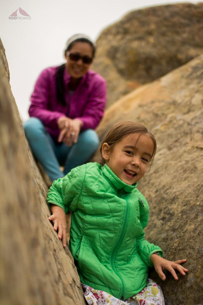 Enjoying rock climbing