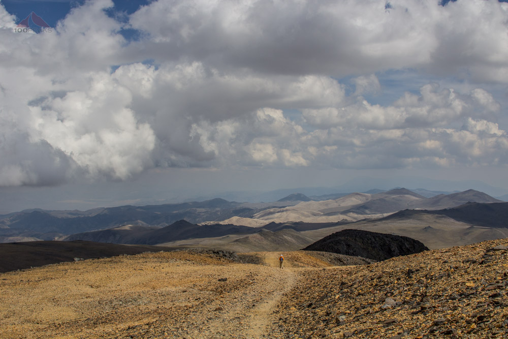 Heading down White Mountain Peak