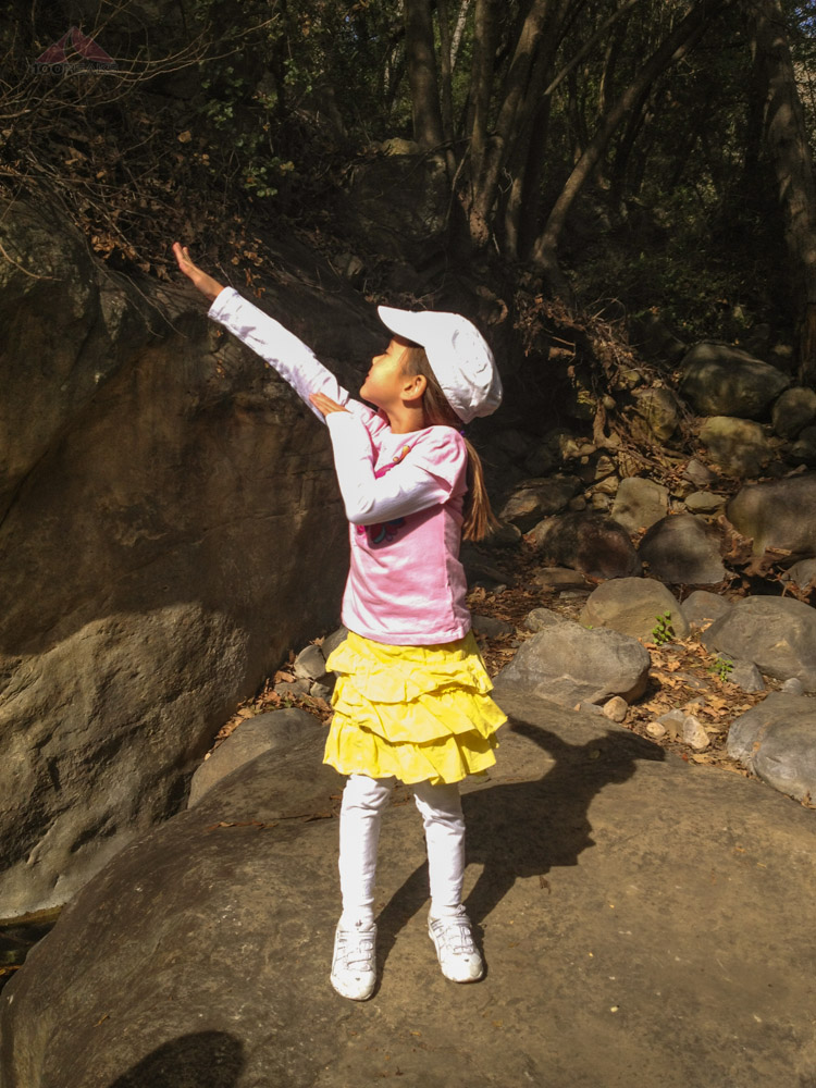 Soph, striking a victorious pose at the Cold Spring Trail