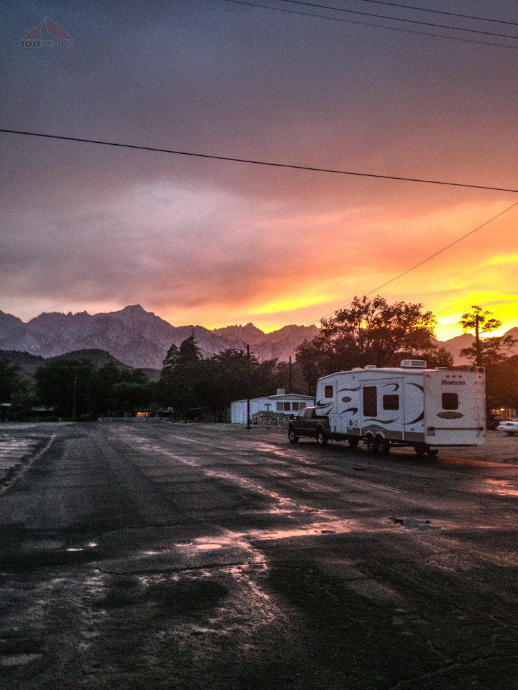 Sunset over Mount Whitney from Lone Pine