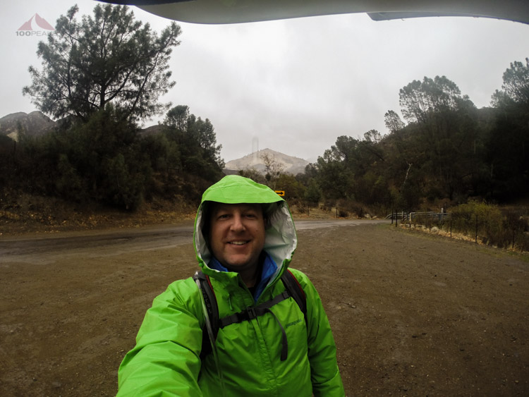 At the trailhead with Grass Mountain behind me