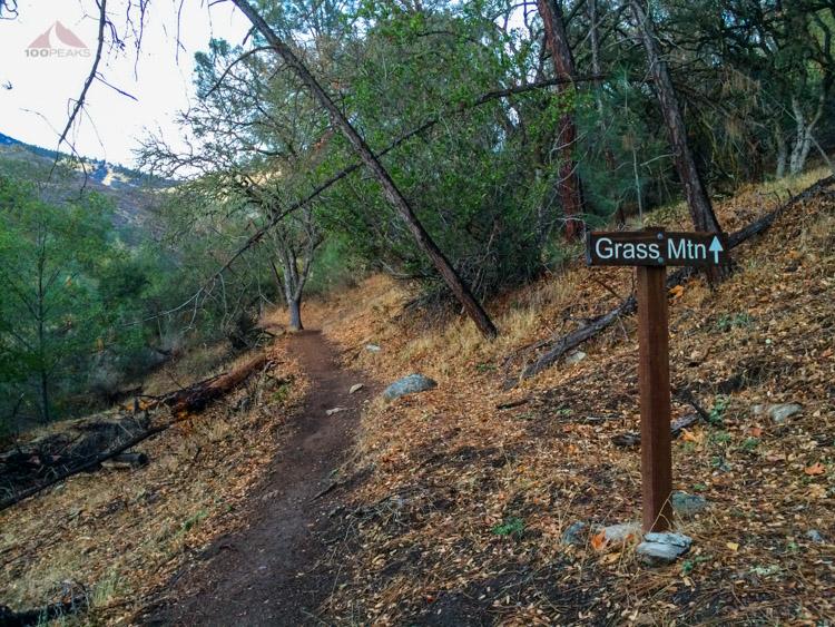 Grass Mountain trail sign
