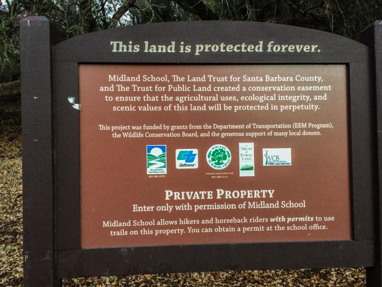 Grass Mountain trailhead sign