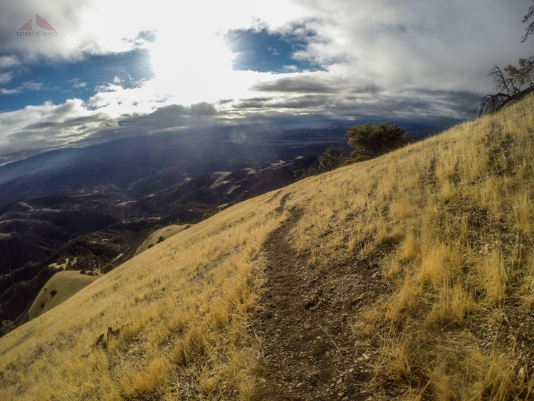 Heading back down Grass Mountain