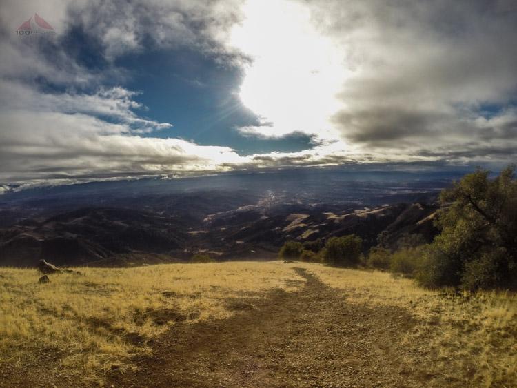 Looking down into Santa Ynez Valley