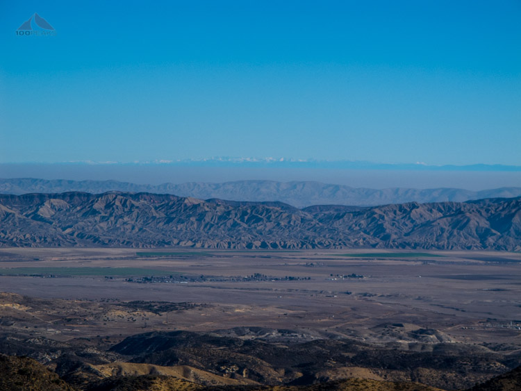 The view to the snow-capped Sierra foothills from McPherson Peak