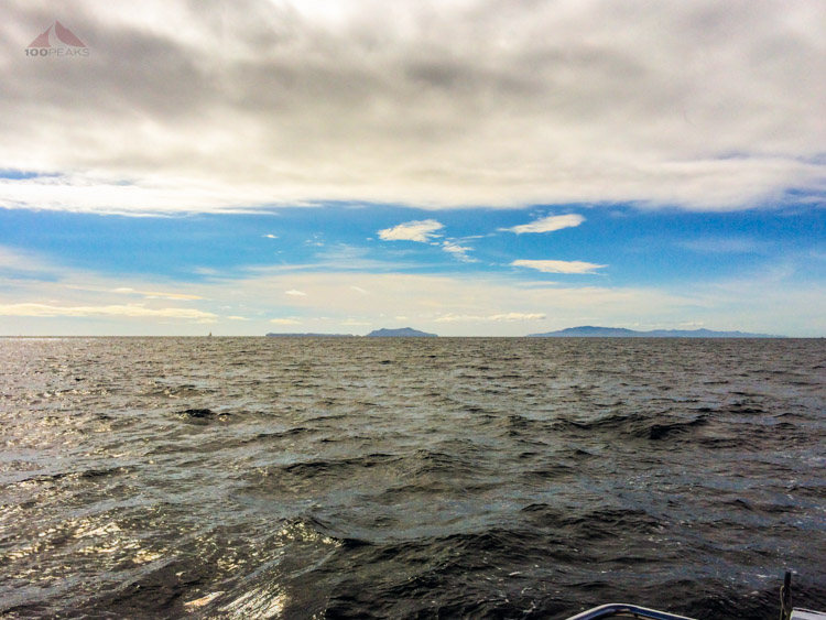 View the Channel Islands from the sailboat