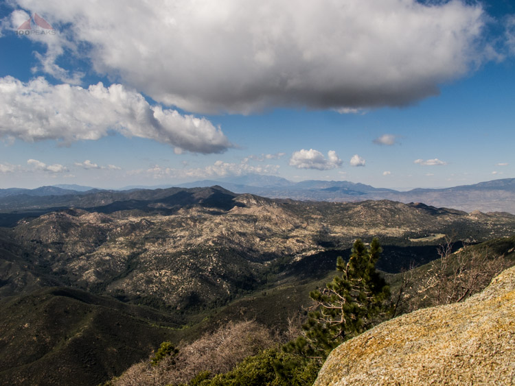 Lost Valley, Combs Peak, and the Santa Rosa Mountains from Hot Springs Mountain