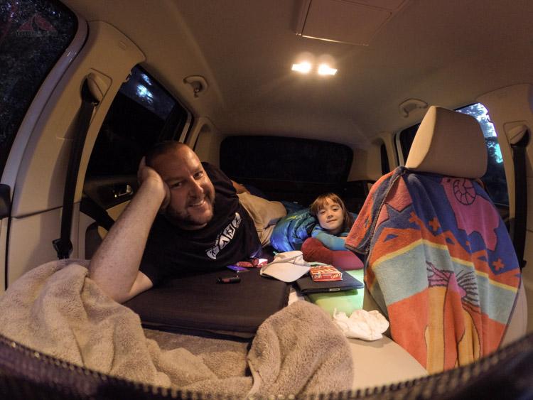 Car camping in the Tiguan