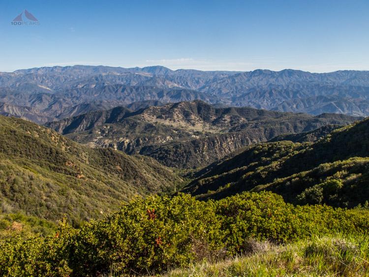 GIdney Ridge from Camino Cielo
