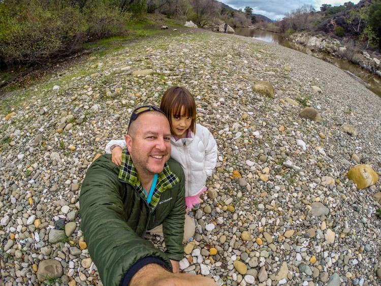 Us at the Santa Ynez River