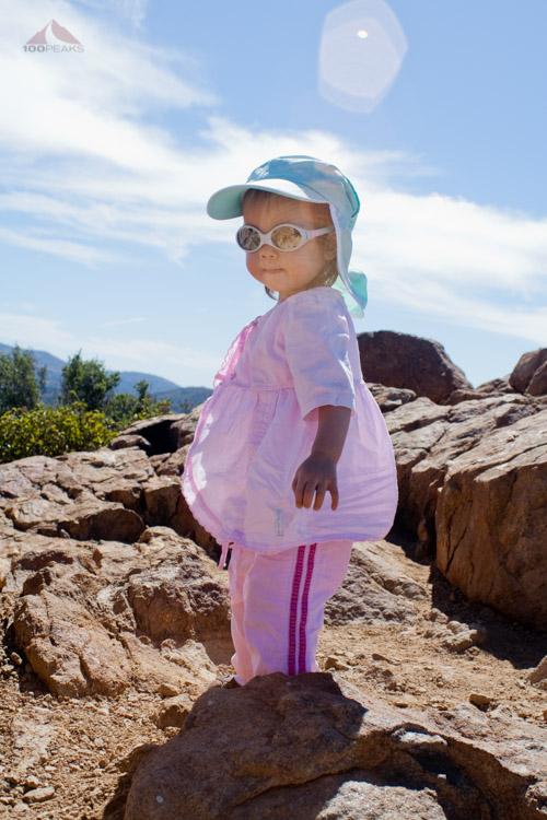 Sophia atop Garnet Peak