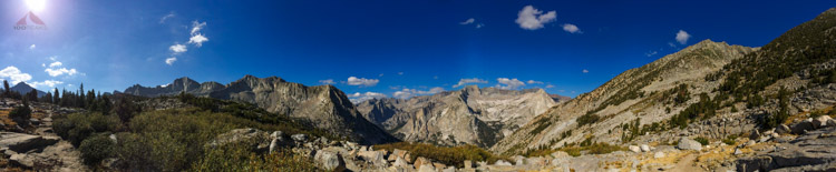 At the edge of Dusy Basin, looking back down toward Le Conte Canyon