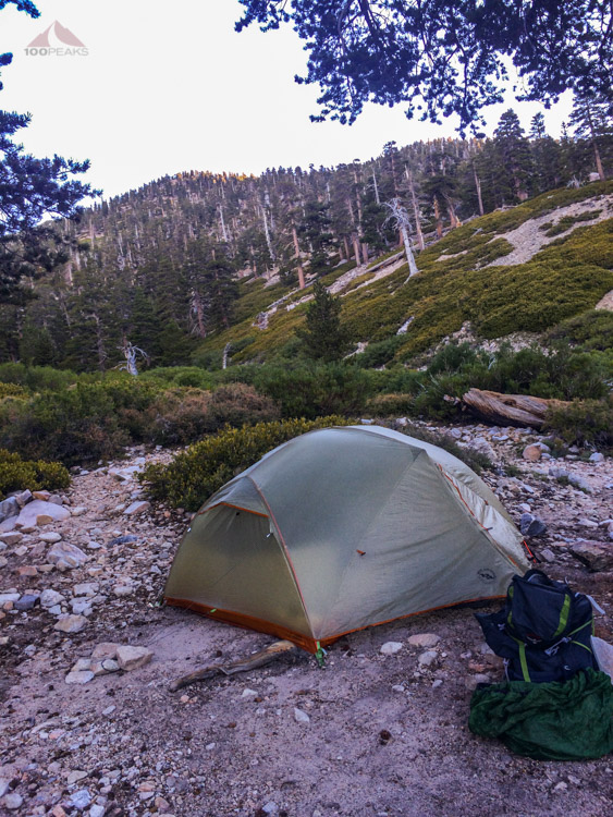 Our tent at High Creek Camp