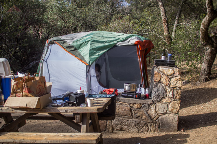 Our camp kitchen at Green Valley