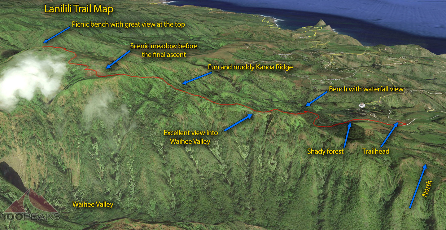 Lanilili Trail Map