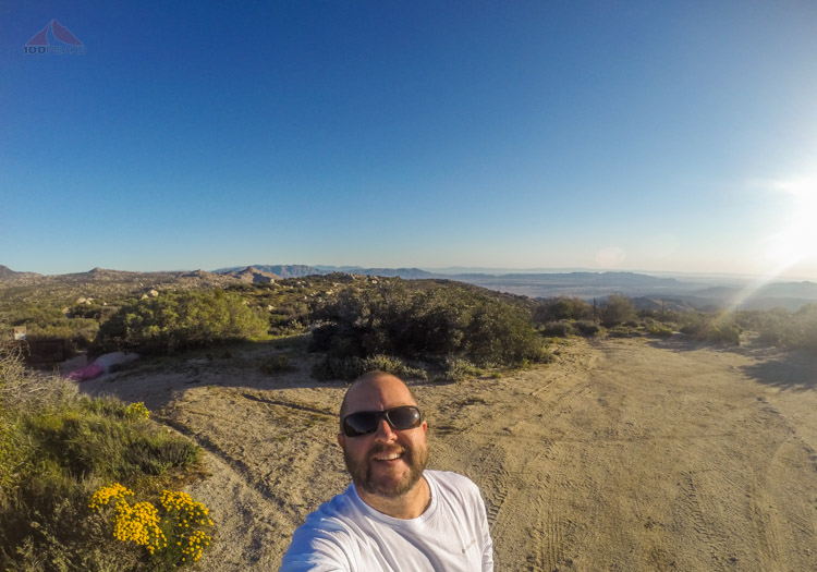 Me, happy at the Peak 3339 Trailhead
